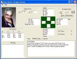 Omar Sharif Bridge Windows An example of the tutorial program<br>The player can select a hand, view its evaluation, bidding, play notes and  the results
