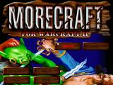 Morecraft for Warcraft II DOS Main menu screen.