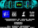Trantor the Last Stormtrooper ZX Spectrum Title Screen
