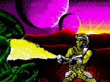Trantor the Last Stormtrooper ZX Spectrum The loading screen