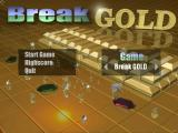 Break Gold Windows The main menu screen.<br>Over on the left the game name scrolls sideways. There is the BreakGOLD game set and the Noid'99 game set. User created games appear as single entries