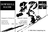 Downhill Racer Macintosh Title screen