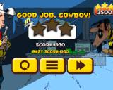 Lucky Luke: Shoot & Hit Windows I did it. I didn't get any stars because I used all my bullets.