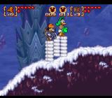 Disney's Magical Quest 3 starring Mickey & Donald SNES Snow stage. When walking Mickey and Donald gather huge piles of snow under their feet - actually a very nice touch!