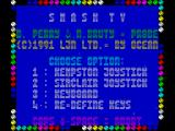 Smash T.V. ZX Spectrum The main menu