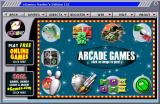 eGames Master Series 151 Windows The Arcade Games menu<br>Hovering over a picture shows the game's name