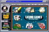 eGames Master Series 151 Windows The Casino Games menu<br>Hovering over a picture shows the game's name
