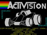 Enduro ZX Spectrum Loading screen