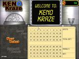 Keno Kraze Windows The game starts with the developers logo and then displays this screen