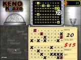 Keno Kraze Windows When the player has selected their numbers they click the 'Submit Ticket' and the game starts picking random balls. Where a player's number is drawn the game puts a red ring round it
