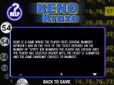 Keno Kraze Windows The first screen of the in game help text