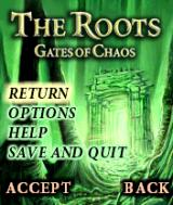 The Roots: Gates of Chaos N-Gage Main Menu