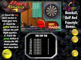 Dart Mania Windows The game's title screen, on the right are buttons for a 1,2,3 or 4 player game, they flash on/off which is why the two player button is missing