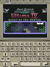 Ultima IV: Quest of the Avatar iPad Game title screen (portrait orientation)