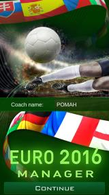 Euro 2016 Manager Android Title Screen and Coach Name
