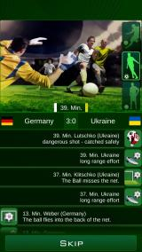 Euro 2016 Manager Android It is possible to select a one of three paces of the team actions