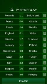 Euro 2016 Manager Android All results of the second matchday