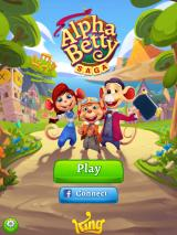 AlphaBetty Saga iPad Title and main menu