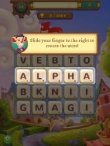 AlphaBetty Saga iPad The first level also acts as a tutorial