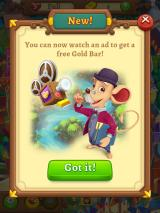 AlphaBetty Saga iPad I can watch an ad to get a free Gold Bar