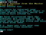 Doctor Goo and the Samorons ZX Spectrum A letter from the timelords informs you of your quest