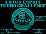 Lotus Esprit Turbo Challenge ZX Spectrum Title Screen