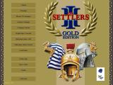 The Settlers III: Ultimate Collection Windows The main menu, with a gold theme