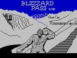 Blizzard Pass ZX Spectrum Title