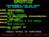 Gauntlet ZX Spectrum Game credits