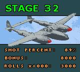 1942 Game Boy Color End of mission statistics