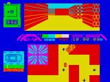 A View to a Kill: The Computer Game ZX Spectrum Start of racing round the streets following the arrows