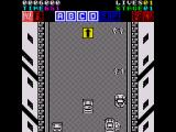 Action Fighter ZX Spectrum You turn into a car when you've collected enough letters