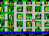 Ghostbusters ZX Spectrum The map of the city