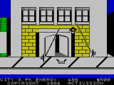 Ghostbusters ZX Spectrum Attempting to catch a ghost