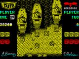 Sky Shark ZX Spectrum Ouch, I've been hit!