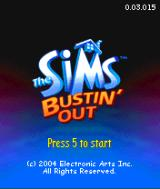 The Sims: Bustin' Out N-Gage Title screen.