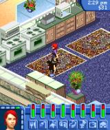 The Sims: Bustin' Out N-Gage Shopping for kitchen appliances.