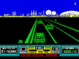 RoadBlasters ZX Spectrum Racing on the first level