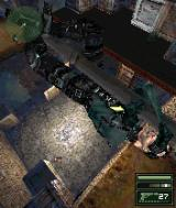 Tom Clancy's Splinter Cell: Chaos Theory N-Gage Sam Fisher in one of his signature poses.