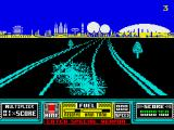 RoadBlasters ZX Spectrum Oops, a crash