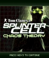 Tom Clancy's Splinter Cell: Chaos Theory N-Gage Title screen.