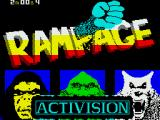 Rampage ZX Spectrum Loading screen