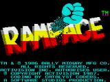 Rampage ZX Spectrum Title screen and credits