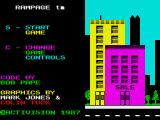 Rampage ZX Spectrum Game options