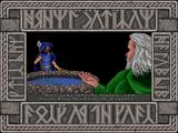Dusk of the Gods DOS From the intro: Odin sacrifices one of his eyes to the Well of Wisdom for a glimpse of the future.
