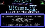 Ultima IV: Quest of the Avatar Windows Title and main menu