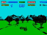 Enduro Racer ZX Spectrum Rock can knock you off your bike