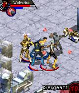 X-Men: Legends N-Gage Number in the corner shows how hard you hit them.