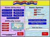 Jigsaw USA Windows The main menu / game selection screen