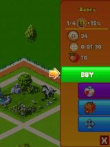 Wonder Zoo J2ME The menu to buy animals and buildings (240x320)